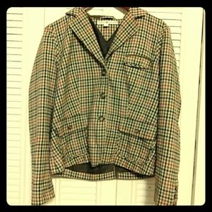 SALE! 3/$10 Tommy Hilfiger Checkered Blazer Large